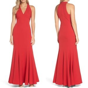 New Vince Camuto Halter Trumpet Gown Sz 8